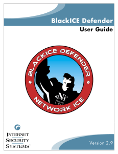 BlackICE Defender 2.9 User Guide