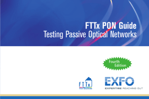 FTTx PON Guide Testing Passive Optical Networks