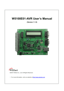 W5100E01-AVR User Manual