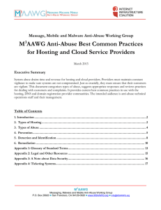 M3AAWG Anti-Abuse Best Common Practices for Hosting and Cloud