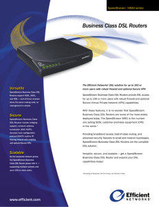 Business Class DSL Routers