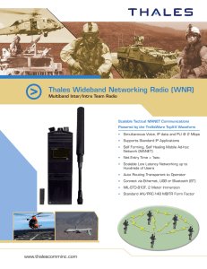 Thales Wideband Networking Radio (WNR)