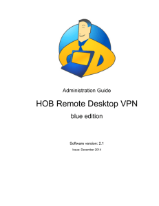 HOB RD VPN 2.1 Administration Guide