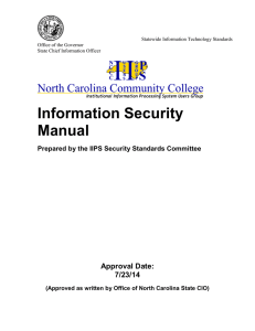 Information Security Manual Approval Date: 7/23/14