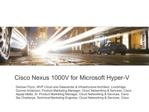 Cisco Nexus 1000V for Microsoft Hyper-V