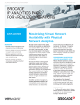 BROCADE IP ANALYTICS PACK FOR REALIZE OPERATIONS