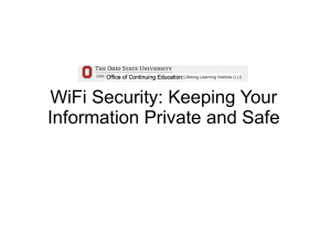 WiFi Security: Keeping Your Information Private and Safe