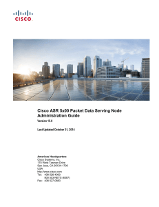 Cisco ASR 5x00 Packet Data Serving Node Administration Guide  Version 15.0