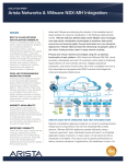 Arista Networks & VMware NSX-MH Integration  INSIDE SOLUTION BRIEF