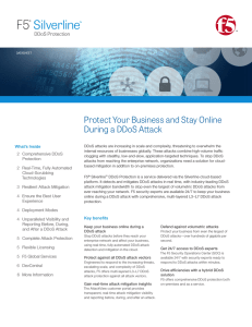 F5  Silverline Protect Your Business and Stay Online