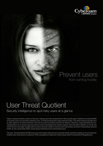 User Threat Quotient (UTQ)