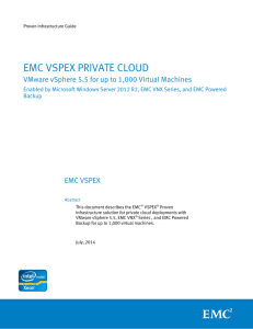 VSPEX Private Cloud with VMware vSphere 5.5 for up to
