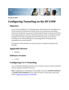 Configuring Tunneling on the RV130W