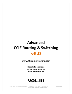 Advanced CCIE Routing & Switching
