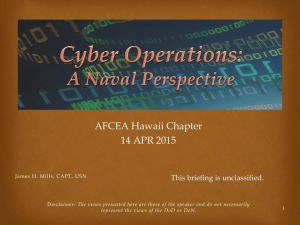 Captain James Mills – Cyber Operations