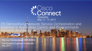 Presentation Deck - Cisco Connect Toronto 2015