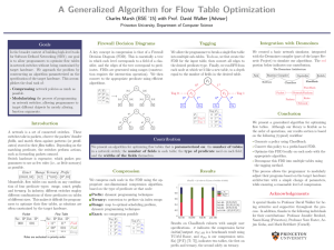 A Generalized Algorithm for Flow Table Optimization