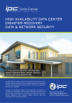 HIGH AVAILABILITY DATA CENTER DISASTER RECOVERY
