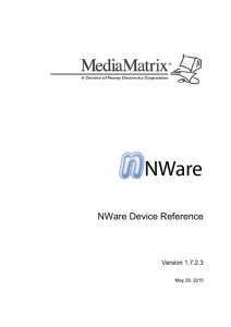 NWare Device Reference - Peavey Digital Research