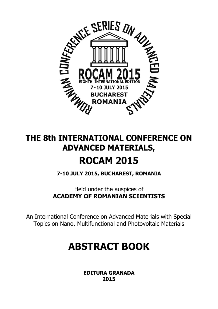 rocam 2015 abstract book