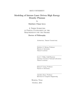 Modeling of Intense Laser Driven High Energy Density Plasmas