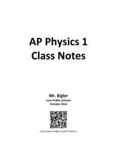 Notes: AP Physics 1