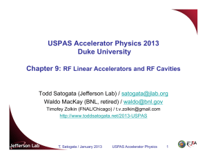 USPAS Accelerator Physics 2013 Duke University