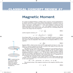 Magnetic Moment - UCSD Department of Physics