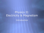 PowerPoint Presentation - Physics II: Electricity & Magnetism