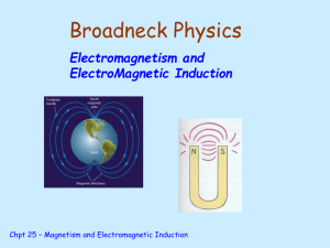 Electromagnetism and ElectroMagnetic Induction