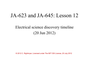 Lesson 12 Science Discovery Timeline