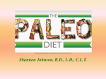 The Paleolithic Diet