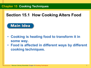 Chapter 15 Cooking Techniques