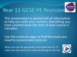 Year 11 GCSE PE Revision