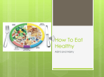 How To Eat Healthy - Westlea Primary School