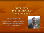 nutrition in childhood & adolescence