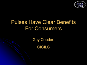 Pulses have a clear benefit for consumers - Guy Coudert