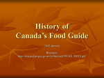History of Food Guide