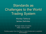 Standards as Challenges to the World Trading System
