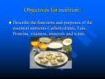 Chapter 3 part I, Nutrition