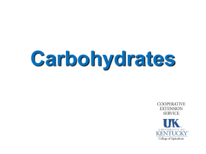 Carbohydrates and dental health