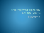 OVERVIEW OF HEALTHY EATING HABITS