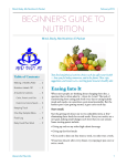 BEGINNER'S GUIDE TO NUTRITION Table of Contents Mind, Body, Me Nutrition E-Packet