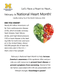 National Heart Month! is Let's Have a Heart to Heart... February