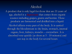Alcohol`s Effects