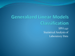 Generalized Linear Models/Classification