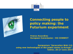 Connecting people to policy making: the Futurium experiment