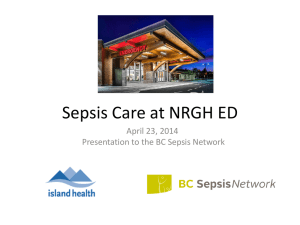 Sepsis Care at NRGH ED