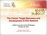 Pathway to Sequencing Cancer Genomes: CGAP update