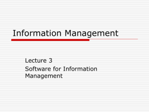 Information Management - West University of Timișoara
